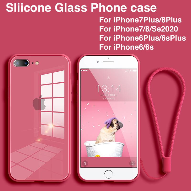 Ốp Điện Thoại Kèm Kính Cường Lực Cho Iphone 7 Plus 7 P Se 2020 6 Plus I 8