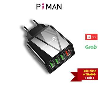 Củ sạc nhanh di động quick charge 3.0 củ sạc nhanh 18w iphone samsung sạc nhanh kéo dài tuổi thọ cho pin Piman P211
