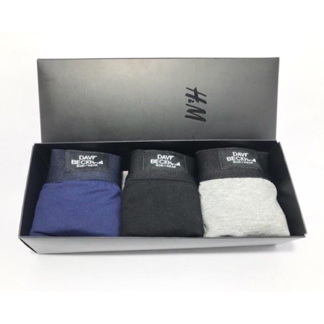 Hộp 3 quần lót nam Boxer - quần sịp nam David - Hàng xuất chuẩn