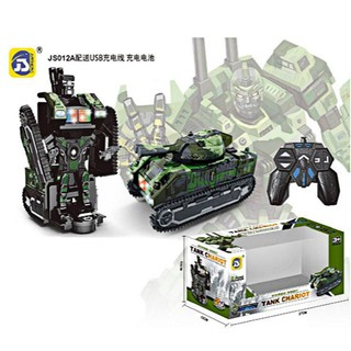 Robot biến hình thành xe tăng dùng điều khiển có đèn phát nhạc