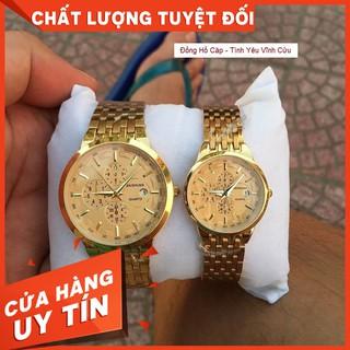 Đồng Hồ Đôi Nam Nữ Baishuns Dây Vàng Sang Trọng thumbnail