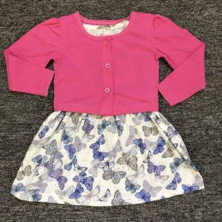 Set váy kèm áo khoác bé gái