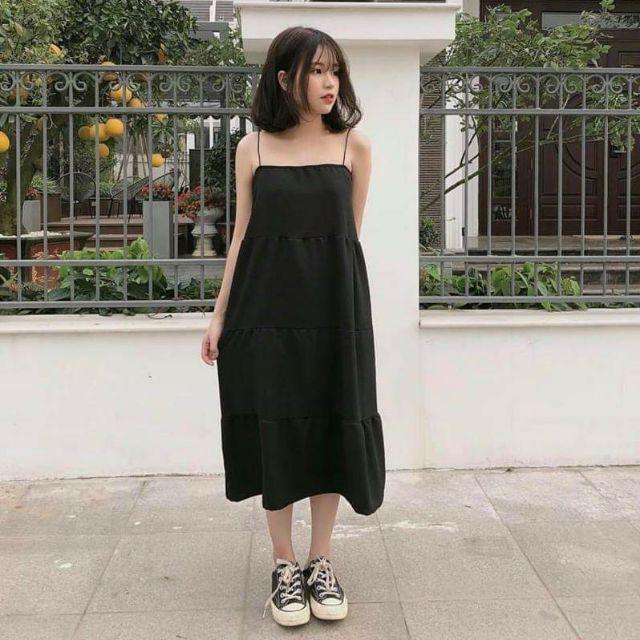 HÀNG CÓ SẴN ] [ HÀNG CÓ SẴN ] VÁY MAXI SUÔNG 2 DÂY ULZZANG HOT | Shopee  Việt Nam