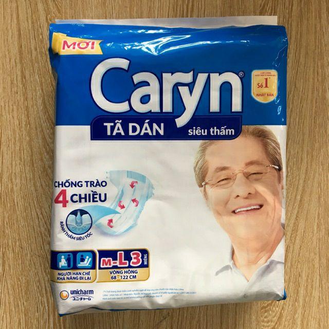 Bỉm dán caryn gói 3 miếng ( cho mẹ sau sinh ) / có bán lẻ