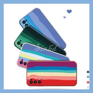 Ốp lưng Redmi Cầu vồng cạnh vuông Xiaomi Redmi K30 K20 Pro Note 9 Xiaomi Mi 11 10 9 8 Pro 10 Lite