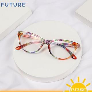 🎈FUTURE🎈 Fashion Anti-blue Light Glasses Vision Care Computer Goggles Optical Eyewear Women Classic Retro Vintage Printing Presbyopia Eyeglasses