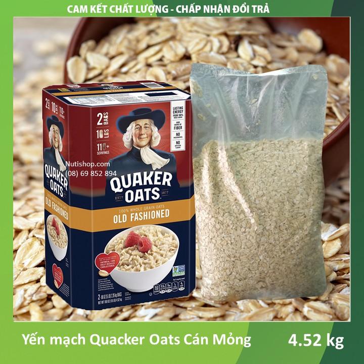Yến mạch Cán mỏng Quacker Oats Mỹ 4520 g Yến mạch Cán mỏng Quacker Oats Mỹ 4520 g