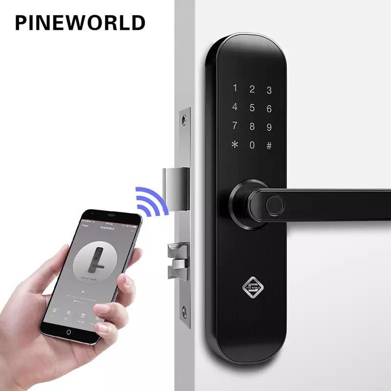 Khóa cửa thông minh cảm ứng vân tay WiFi - TUYA PINEWORLD