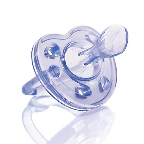 Ti giả cho bé 0-6 tháng tuổi 100% silicone mềm chỉnh nha có nắp đậy kuku ku5516