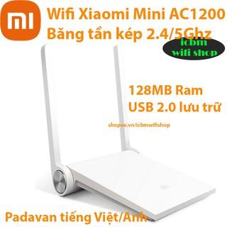 Bộ phát wifi Xiaomi Mi Mini AC1200 tiếng Việt Padavan, rom gốc – ICBM wifi shop