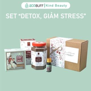 Quà 20 10 Quà sinh nhật Ecobuff Giftset Detox Giảm Stress tặng bà tặng mẹ Muối ngâm chân Dầu xoa bóp giảm đau mỏi thumbnail