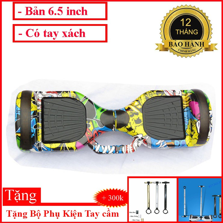 Xe điện tự cân bằng Xe cân bằng điện 2 bánh lớn 6.5 inch - Nhạc - Bluetooth