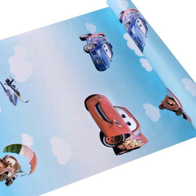 10m*45cm giấy dán tường sẵn keo hình ôtô chở bé yêu