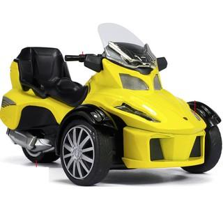 Mô hình Xe mô tô 3 bánh đồ chơi trẻ em xe bằng kim loại có âm thanh và đèn