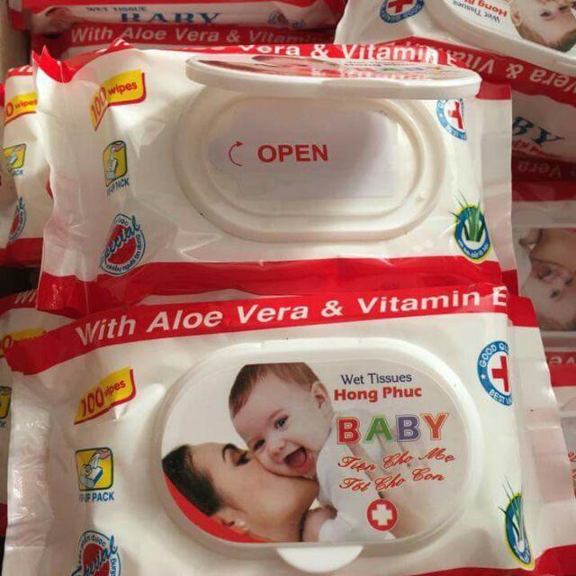 Khăn giấy ướt 80 miếng, Khăn ướt dành cho bé, Khăn ướt tốt cho bé, ngừa sẩy cho trẻ em