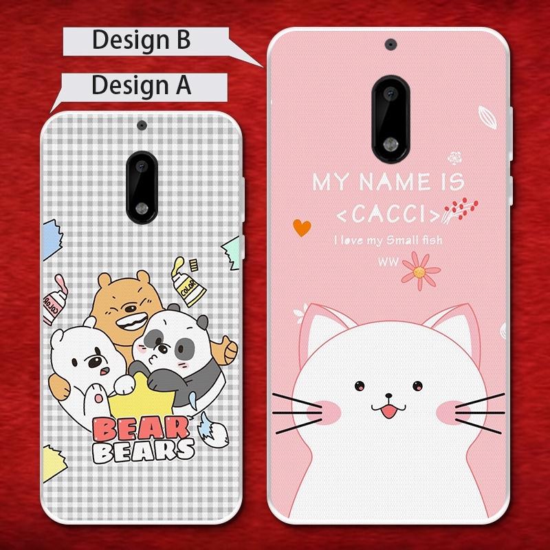 Nokia 6 3 5 3310 7 6.1 3.1 X6 5.1 8 Plus 2018 Bear Soft Silicon TPU Case Cover