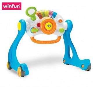 Đồ chơi Kệ chữ A kết hợp xe tập đi, bàn tập đứng cho bé có nhạc 3 tin 1 - Winfun 0846 cho bé sơ sinh tới 3 tuổi thumbnail