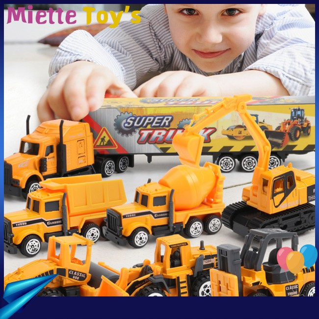 5Pcs/Set Simulate Alloy Inertia Set Toy Cars for