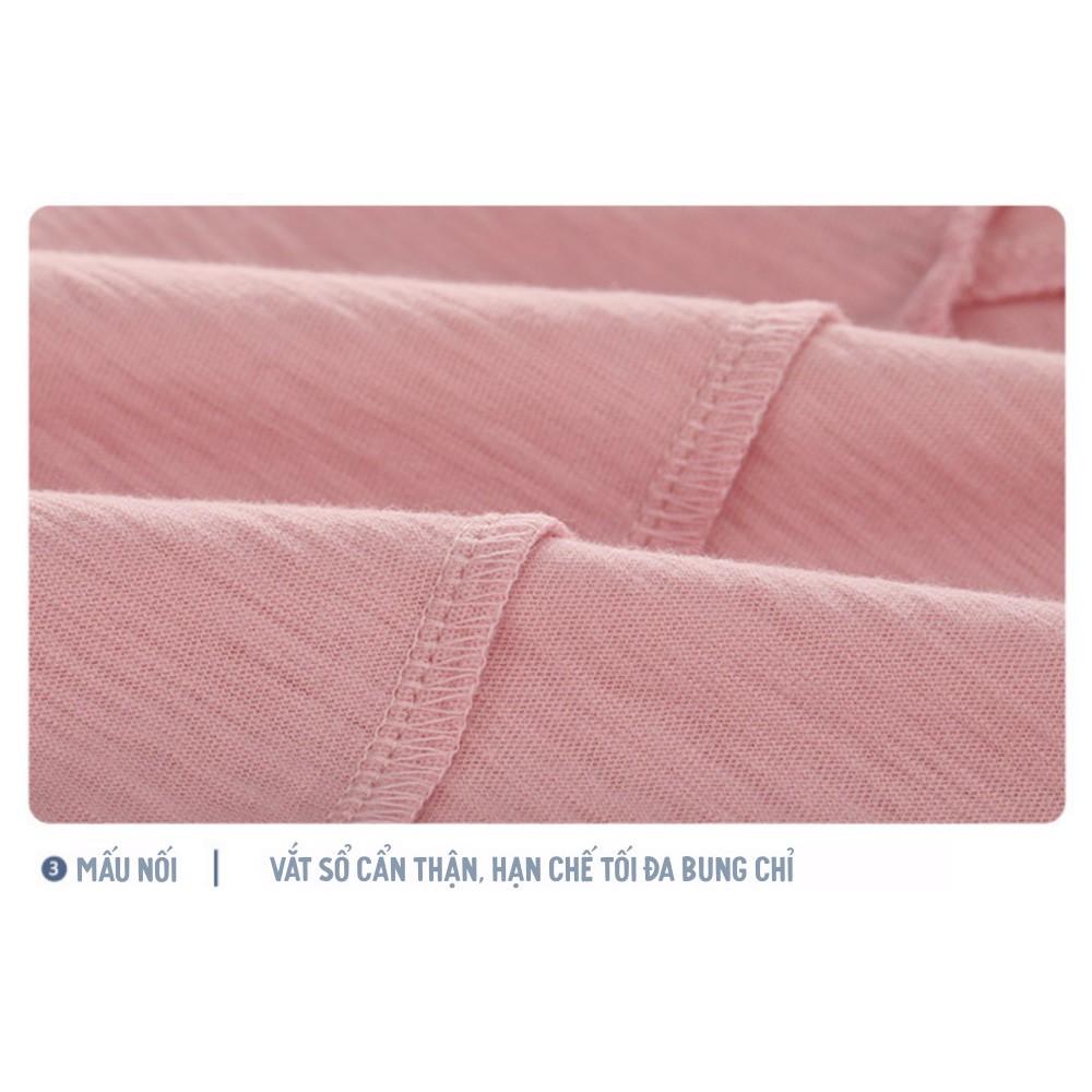 Áo thun TRƠN vải XƯỚC CAO CẤP phong cách thời trang HÀN QUỐC cho bé trai bé gái 10kg đến 34kg basic màu sắc đa dạng