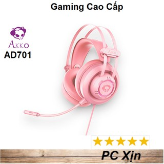 Tai nghe Gaming AKKO AD701 Pink Over Ear RGB giả lập 7.1 thumbnail