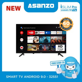 "Smart TV iSLIM PRO 32""- 32S51 (Android 9.0 Pie – 2020)"