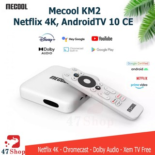 Android TV Box Mecool KM2 - Netflix 4K, AndroidTV 10 CE - Remote Voice Theo Máy