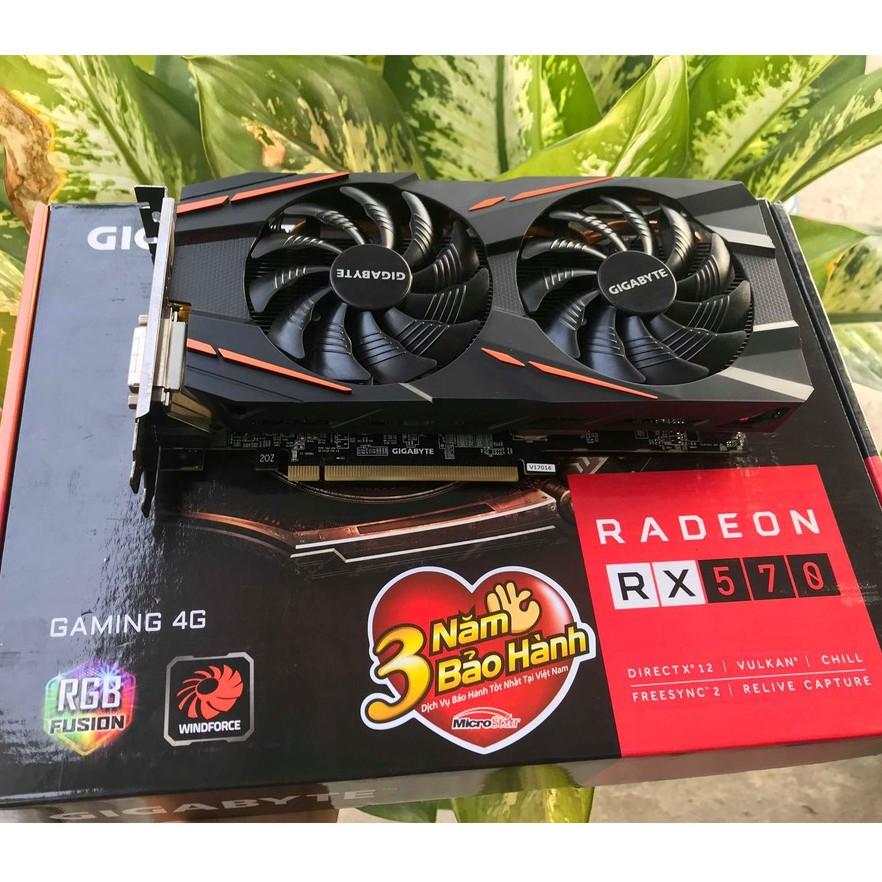 Gigabyte Rx 570 4gb gaming Giá chỉ 1.500.000₫