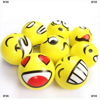 {MT&VN}Funny Smiley Face Anti Stress Reliever Ball ADHD Autism Mood Toy Squeeze Relief