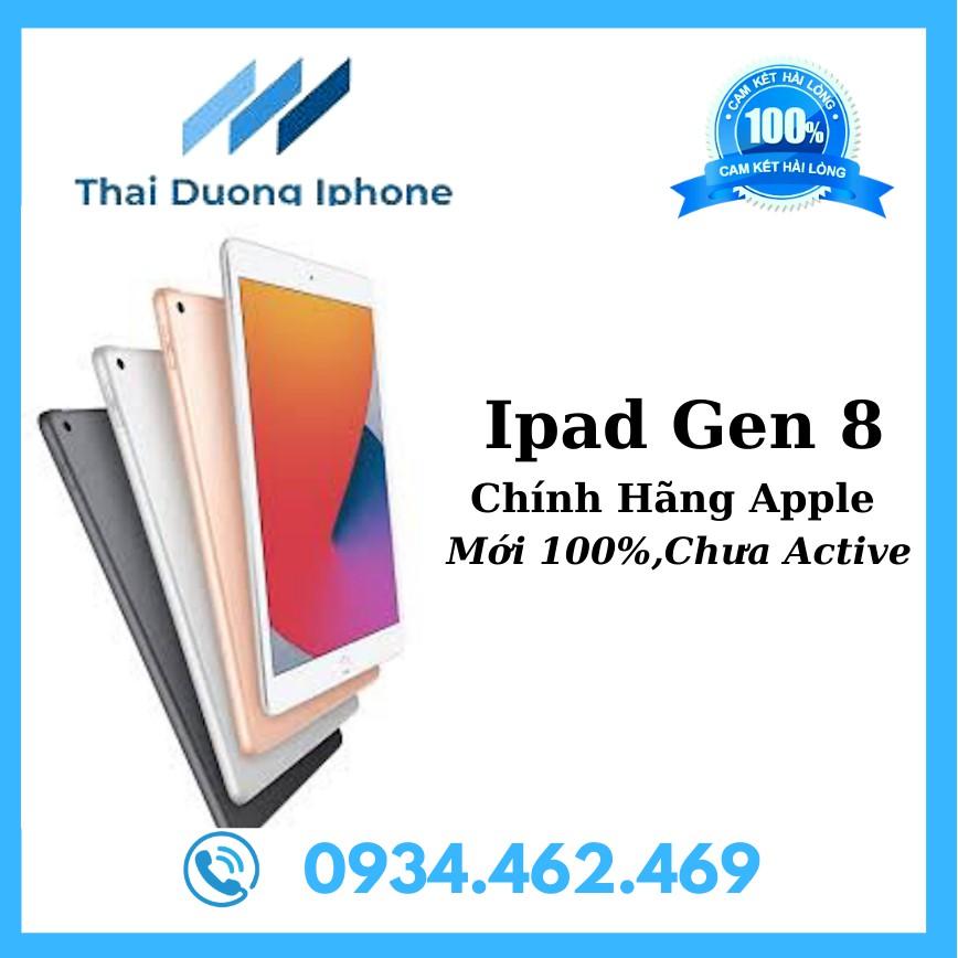 [Mã ELMSHX02 hoàn 6% xu đơn 2 triệu] Máy tính bảng Apple iPad Gen 8 2020 10.2 inch Wifi 32GB, 128GB Mới 100% Chưa Acitve