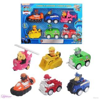 Kids 6PCS Pull Back Car Wang Wang Rescue Team Patrol Car Model Toys