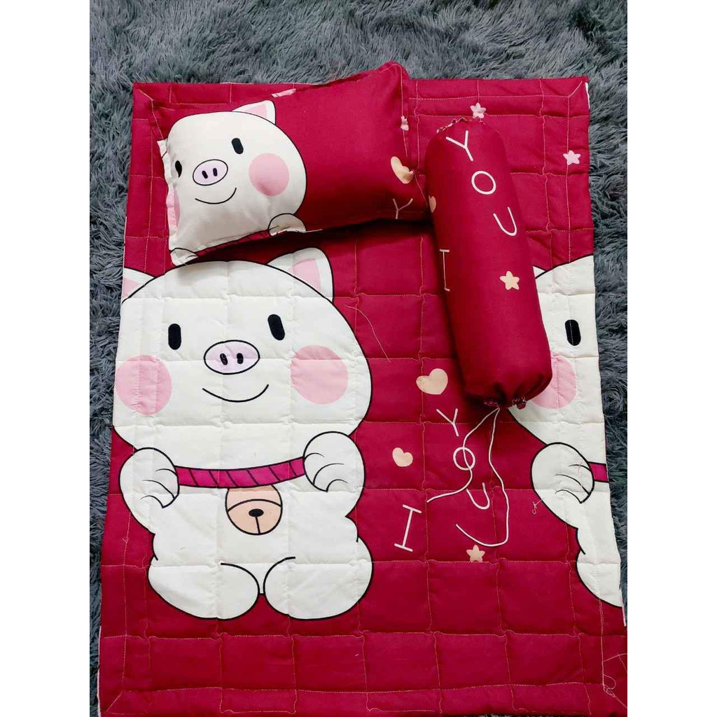 SET 5 món bộ chăn gối cho bé ngủ riêng, đi học ngộ nghĩnh - Có bán lẻ gối ôm, chăn, gối nằm, vỏ gối