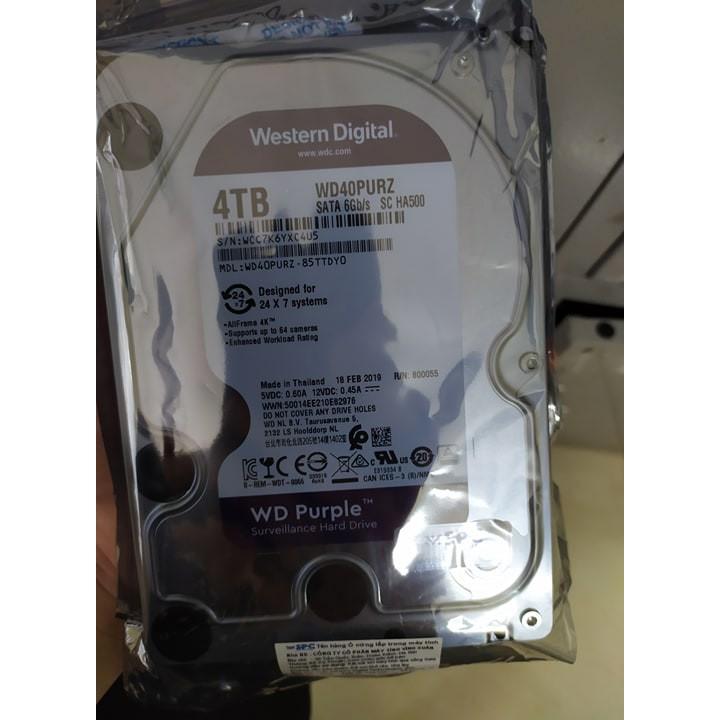Ổ cứng 4TB Western Purple 3.5 chính hãng vĩnh xuân Giá chỉ 2.590.000₫