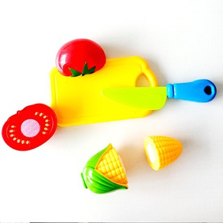 Kitchen Food Pretend Game Toy Cutting Vegetable Fruit Kids Educational Toys Uk