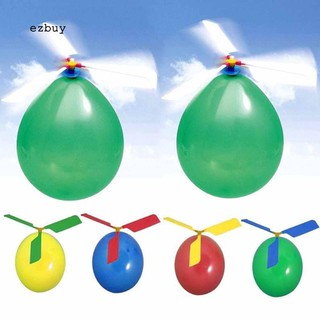 【EY】Outdoor Child Kid Balloon Copter Plane Helicopter Flying Aircraft DIY Game Toy