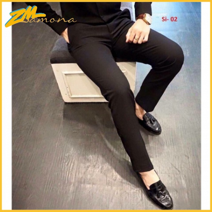 Quần tây nam đẹp, quần âu nam ( quần vải nam ) cao cấp màu đen dáng ôm body Hàn Quốc vải chống nhăn, không bai xù