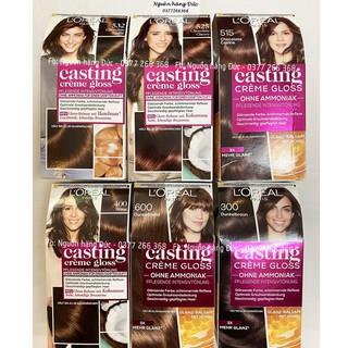 Thuốc nhuộm tóc Loreal Casting Đức - Nhuộm nâu - Loreal casting creme gloss 515,532,525,400,600,300 thumbnail