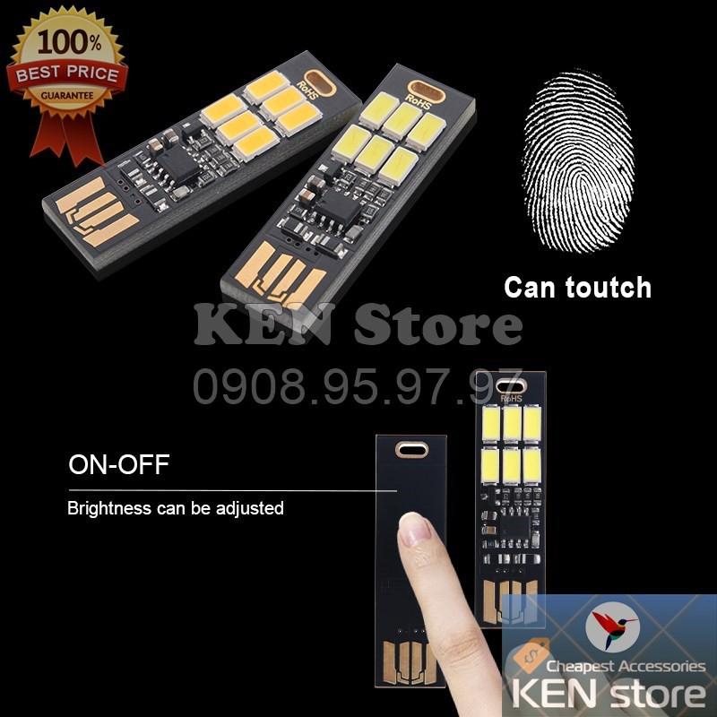 Đèn led, bóng led USB siêu sáng cảm ứng chạm tắt/mở/tăng/giảm độ sáng