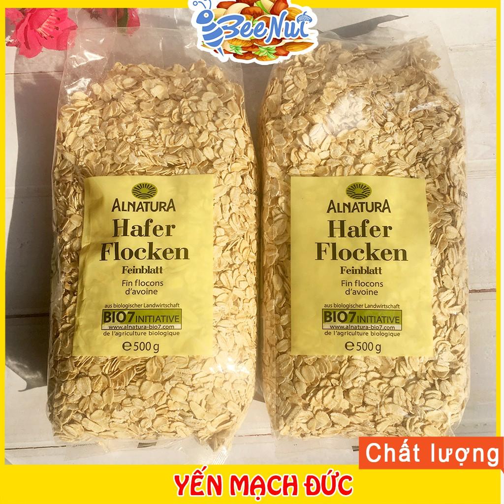 Combo 2 Bịch 500g Yến Mạch Đức nguyên hạt cán dẹt - 100% tự nhiên cung cấp tinh bột, vitamin và chất khoáng