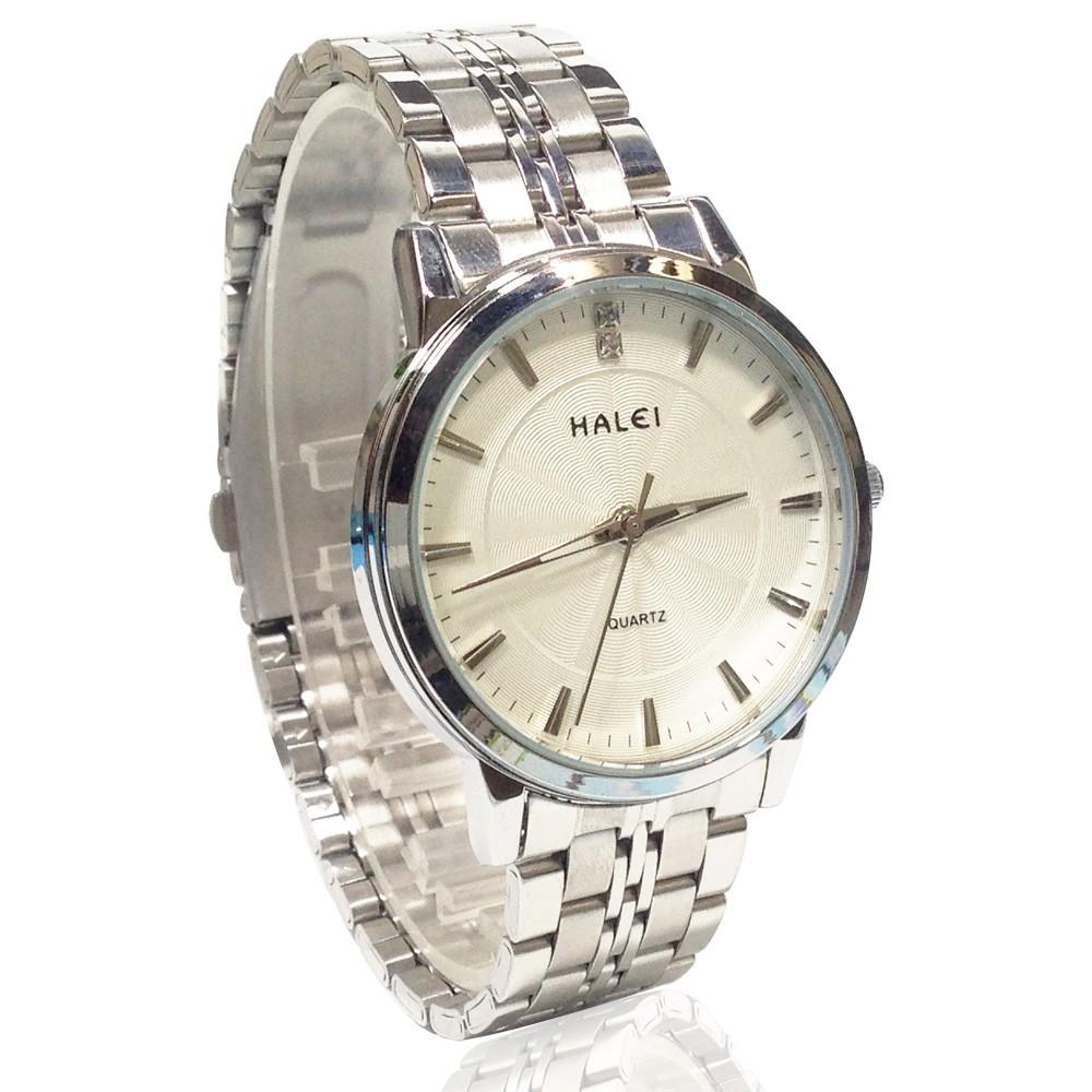 Đồng hồ nam HALEI 5422M dây thép không gỉ 2 màu