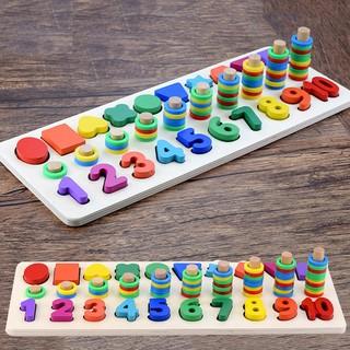 [Xả Kho] Giáo Cụ Montessori – Bảng Học Số Đếm 3in1