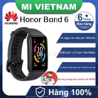 Vòng đeo tay thông minh Huawei Honor Band 6 Theo dõi nồng độ Oxy trong máu SPO2 BH 6 tháng thumbnail
