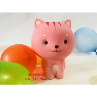 Squishy mèo hồng ngồi dễ thương – đồ chơi an toàn cho trẻ tu9z