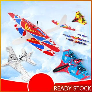 Electric Aircraft Rechargeable USB Hand Throwing Aircraft Gyro Glider Child Model Toy