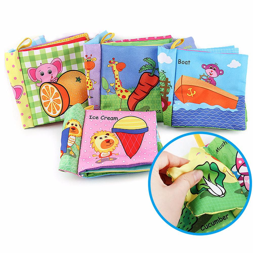 Early Education Books Childhood Baby Toys Cloth Book Toys Gifts