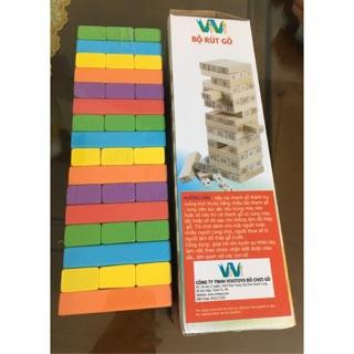 Đồ chơi rút gỗ xếp hình cho bé – Cỡ to 2 loại