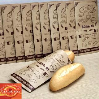 Yêu Thích[Free ship] 290đ/túi Combo 500 túi bánh mì 13x26cm giấy kraff siêu đẹp + tiêu chuẩn an toàn thực phầm