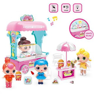 Lol Surprise Doll Ice-Cream Van House Game Music Pretend Kids Girls Toy Gifts