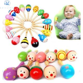 L1 Favor Baby Wood Party Maraca Toy
