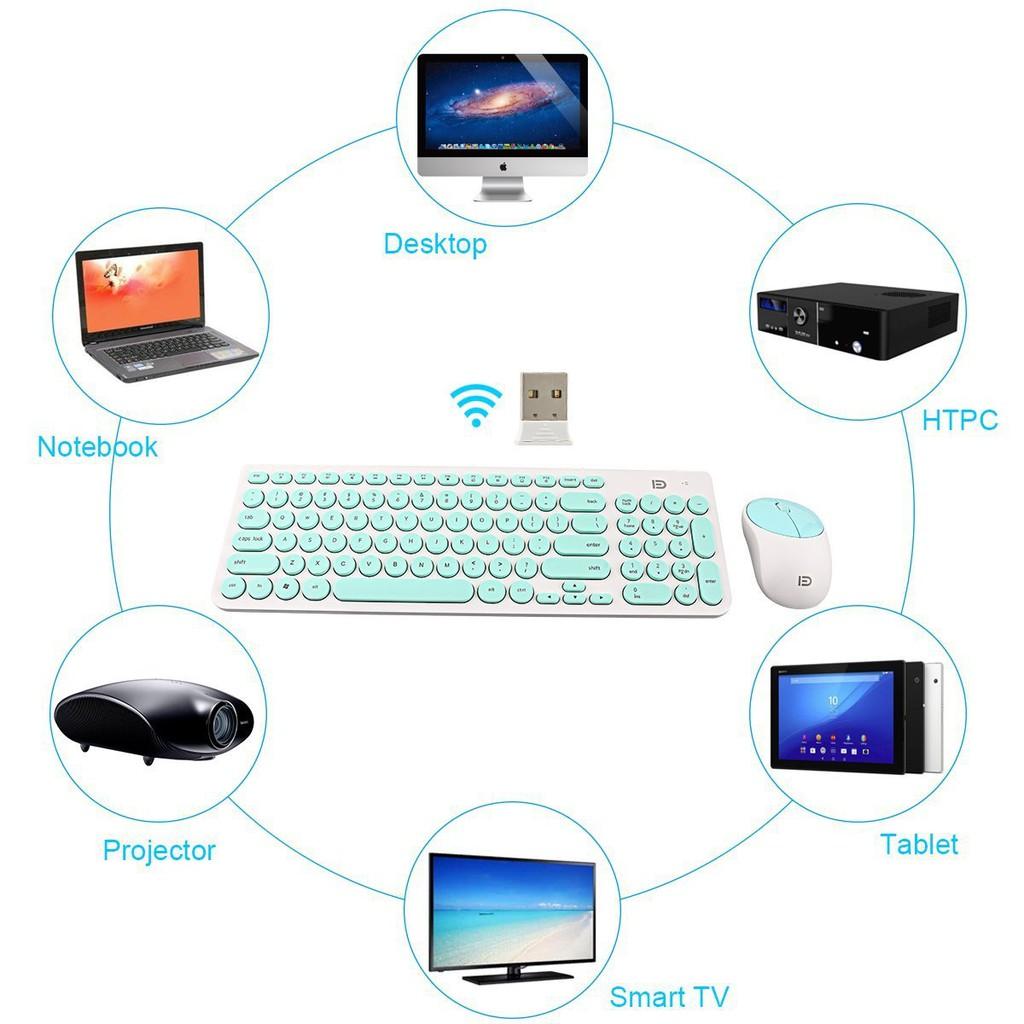 Combo Bàn phím và chuột không dây Wireless FD iK6630 pin dùng đến ...