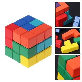 YOUN* Tetris Cube Multi-color Puzzle Educational Teaser game
